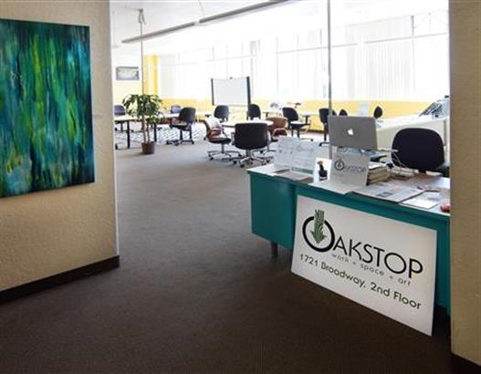 Oakstop, a Co-Working Space, 1721 Broadway, Oakland, CA.